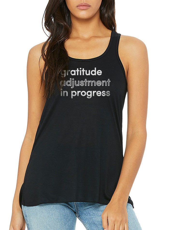 Women's Gratitude Flow Tank - Breathe in Detroit
