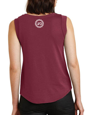 Women's Radiate Love Cap Sleeve Tank - Breathe in Detroit