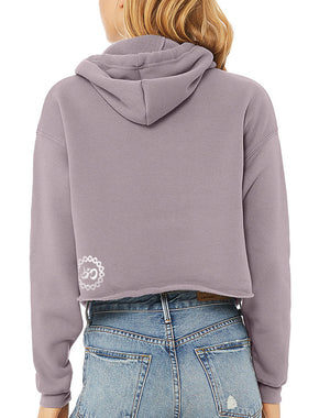 Women's Gratitude Cropped Fleece Hoodie - Breathe in Detroit