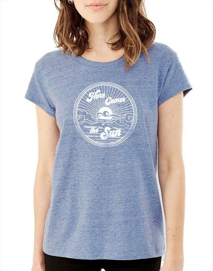 Women's Here Comes The Sun Nep Jersey Tee - Breathe in Detroit