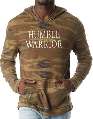 Unisex Humble Warrior Eco Hooded Pullover - Breathe in Detroit