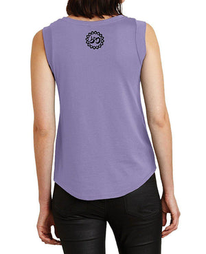 Women's Kindness is Really Hot Cap-Sleeve Satin Cotton Tee - Lilac - Breathe in Detroit