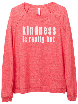 Women's Kindness is Really Hot Eco Mock Pullover - Breathe in Detroit