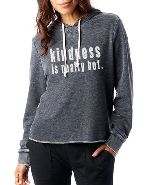 Kindness Is Really Hot French Terry Hooded Pullover - Breathe in Detroit