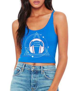 Women's Listen to Your Soul Crop Tank - Breathe in Detroit