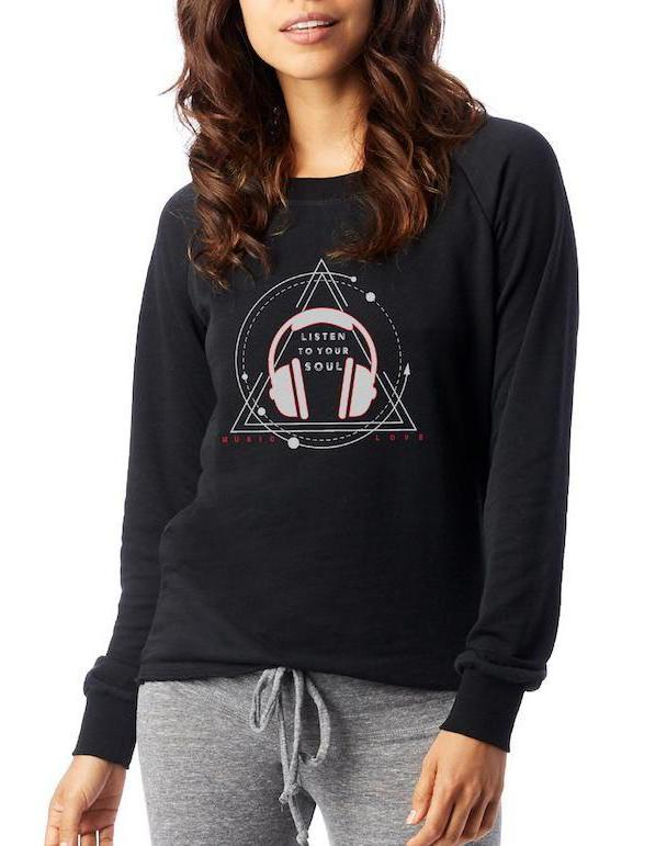 Women's Listen to Your Soul Loved-In Pullover - Breathe in Detroit