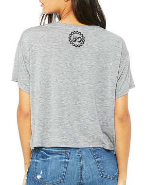 Women's Listen To Your Soul Flowy Crop Tee - Breathe in Detroit
