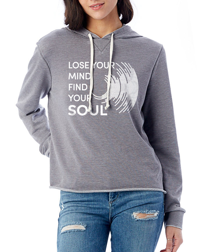 Women's Lose Your Mind French Terry Pullover Hoodie - Breathe in Detroit