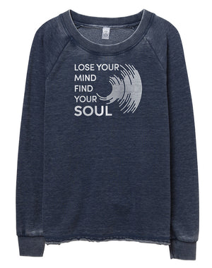 Women's Lose Your Mind French Terry Pullover Sweatshirt - Breathe in Detroit