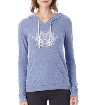 Women's Rising Lotus Eco-Jersey Pullover Hoodie - Breathe in Detroit