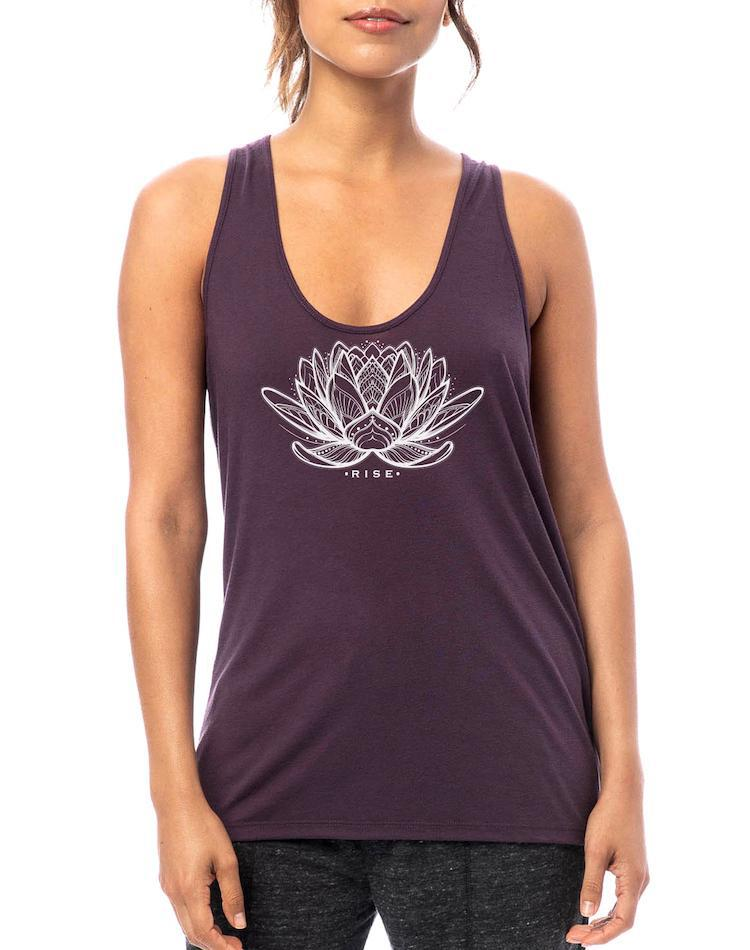 Women's Rising Lotus Slinky Jersey Tank - Breathe in Detroit