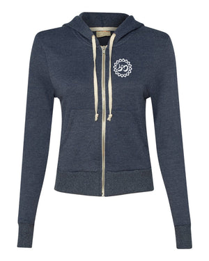 Women's Rising Lotus French Terry Hooded Zip-Up - Breathe in Detroit
