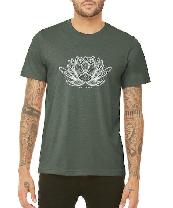 Unisex Rising Lotus Triblend Tee - Breathe in Detroit