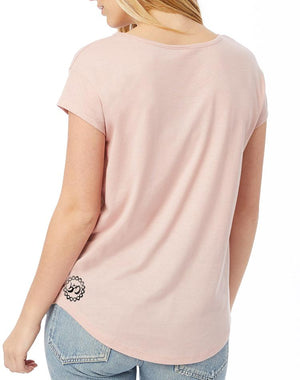Women's Radiate Love Rose Modal Tee - Breathe in Detroit