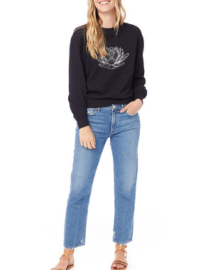 Women's Namaste Washed Terry Sweatshirt - Breathe in Detroit