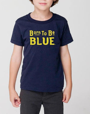 Toddler Born Blue Wolverines Tee - Breathe in Detroit