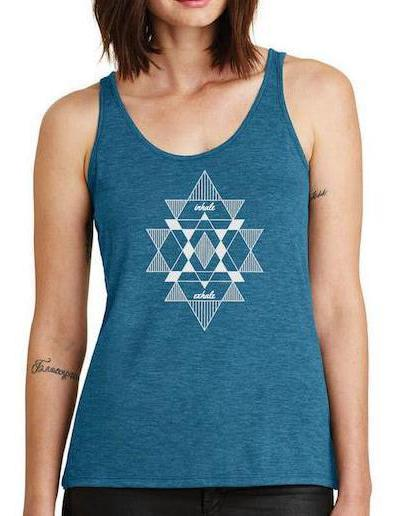 Women's Airy Burnout Mantra Tank - Breathe in Detroit