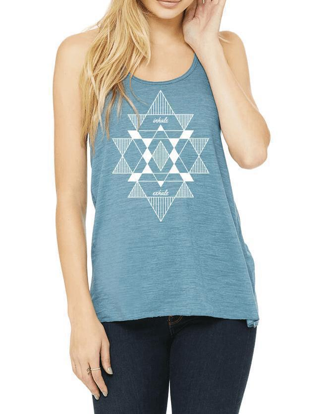 Women's Mantra Flow Tank - Breathe in Detroit