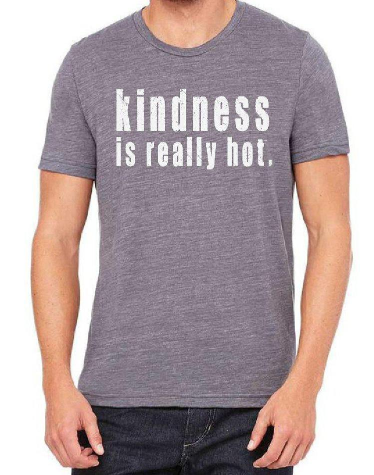 Unisex Kindness Is Really Hot Triblend Tee - Breathe in Detroit