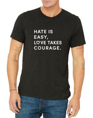 Unisex Love Takes Courage Triblend Tee - Breathe in Detroit