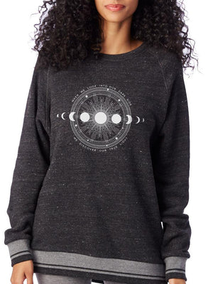 Unisex Moon Shadow Vintage Eco-Fleece Pullover - Breathe in Detroit