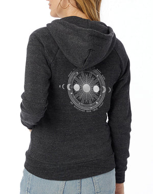 Women's Moon Shadow Eco-Fleece Full-Zip Hoodie - Breathe in Detroit