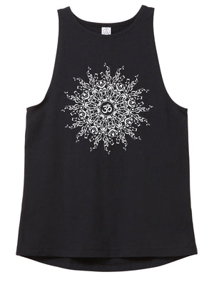 Women's Music Mandala Fitted Stretch Tank - Breathe in Detroit