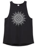 Women's Music Mandala Fitted Stretch Tank