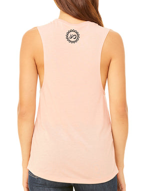 Women's Namaste Slub Muscle Tank - Breathe in Detroit