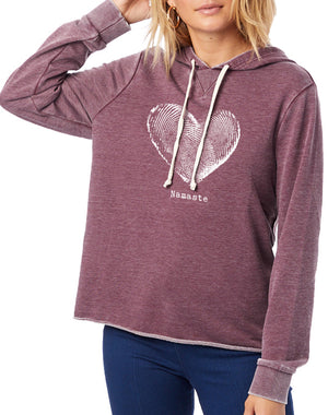 Women's Namaste French Terry Hoodie - Breathe in Detroit