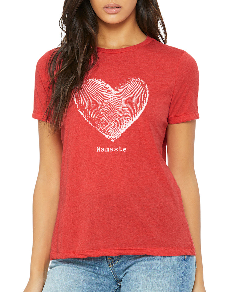 Women's Namaste Relaxed Fit Tee - Breathe in Detroit