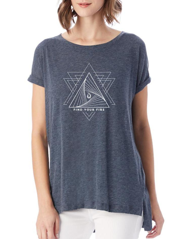Women's Find Your Fire Drape Eco Gauze Tee - Breathe in Detroit