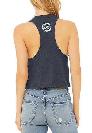 Women's Breathe Like You Mean It Racer Crop Tank - Breathe in Detroit