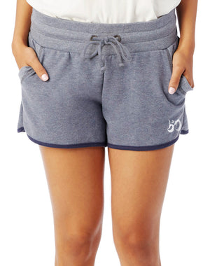 Women's French Terry Vintage Track Shorts - Breathe in Detroit