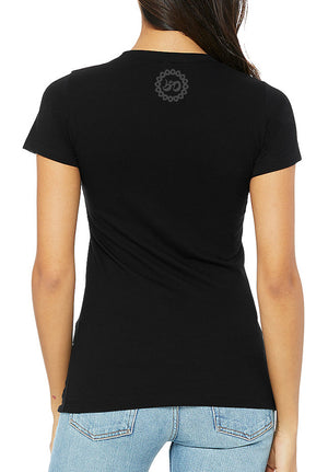 Women's Double Dark Detroit Octopus Triblend Tee - Breathe in Detroit