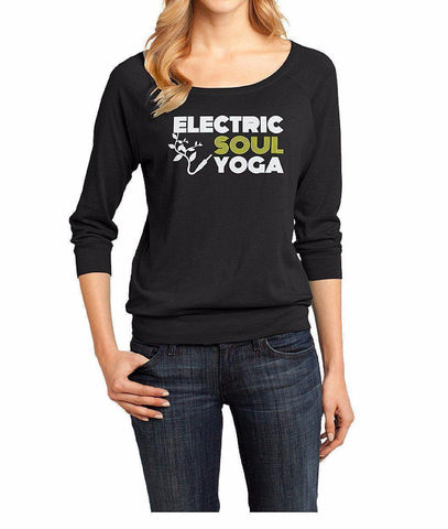 ELECTRIC SOUL YOGA Lightweight Triblend Full-Zip Hoodie