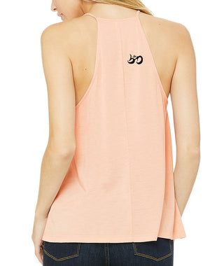 Women's Rising Lotus Shoulder Tank - Breathe in Detroit