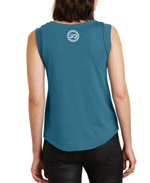 Women's Elevate Peacock Cap-Sleeve Tank - Breathe in Detroit