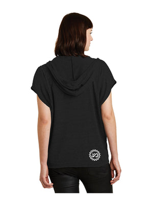 Women's Rising Lotus Eco-Jersey Hooded Poncho - Breathe in Detroit