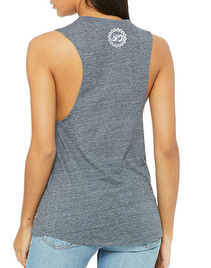 Women's Reclaimed Muscle Tank - Breathe in Detroit