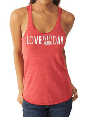 Women's Love Every Damn Day Eco Fly Tank - Breathe in Detroit