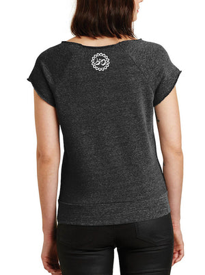 Women's Love Takes Courage Cutoff Sleeve Eco Fleece - Breathe in Detroit