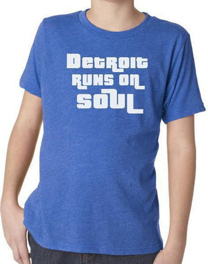 Youth Detroit Runs on Soul Tee - Breathe in Detroit