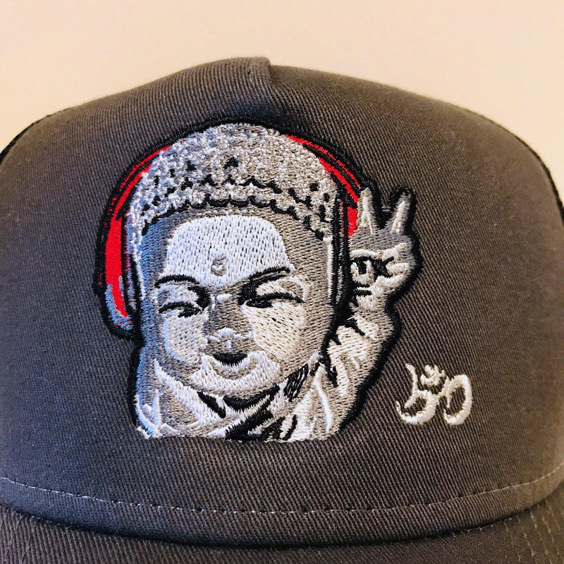 Little Buddha Mesh SnapBack Trucker Hat - Breathe in Detroit