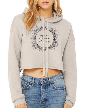Women's Stars Cropped Fleece Hoodie - Breathe in Detroit