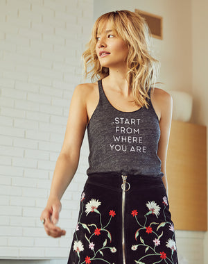 Women's Start From Where You Are Eco Fly Tank - Breathe in Detroit