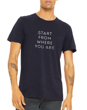 Unisex Start From Where You Are Triblend Tee - Breathe in Detroit