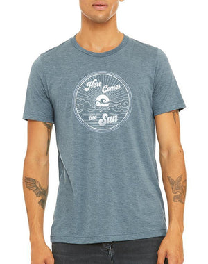 Unisex Here Comes The Sun Triblend Tee - Breathe in Detroit