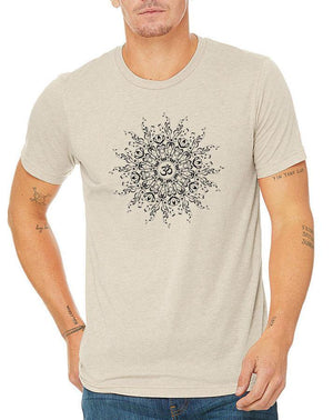 Unisex Music Mandala Triblend Tee - Breathe in Detroit