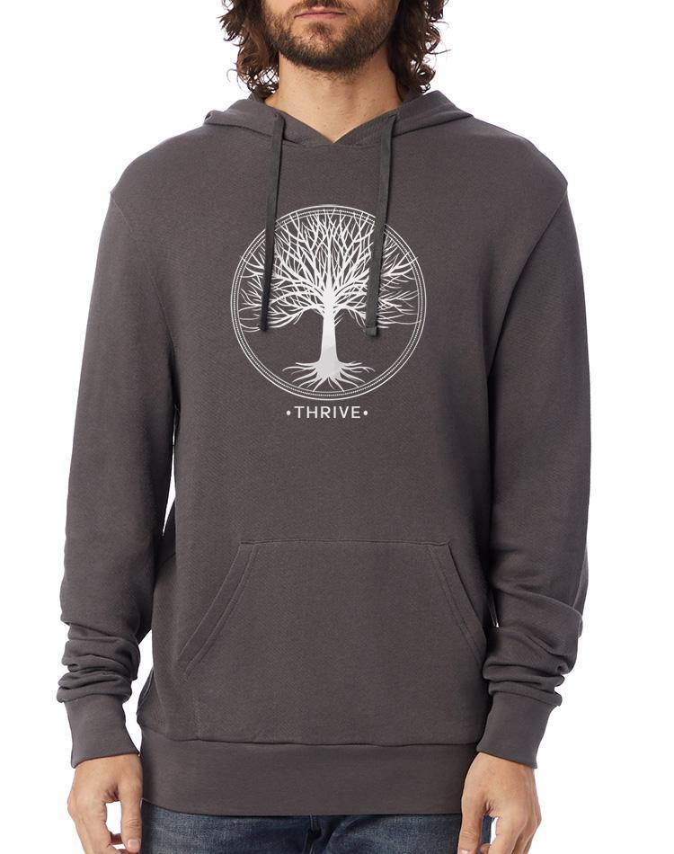 Unisex Thrive Washed Terry Pullover Hoodie - Breathe in Detroit